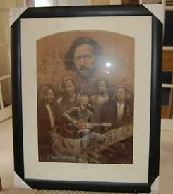 FRAMED PICTURE OF ERIC CLAPTON ' SLOW HAND'