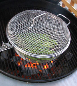 """12"""" Stainless Steel Round Grill Basket"""