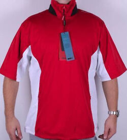 Stuburt sport Short Sleeve Golf Jacket top Medium size BNWT in Red and White
