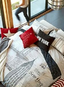 Housse couette queen king grand lit coussin simons jysk NYC