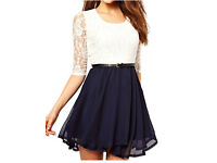 Sleeve lace mini dress, size 14