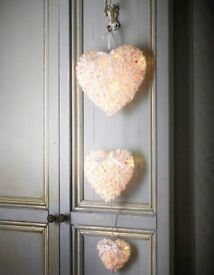 Hanging hearts lights