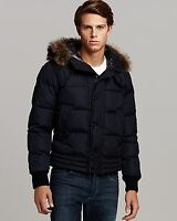 MENS AUTHENTIC LUXURY MONCLER NAVY RIBERA GOOSE JACKET LARGE