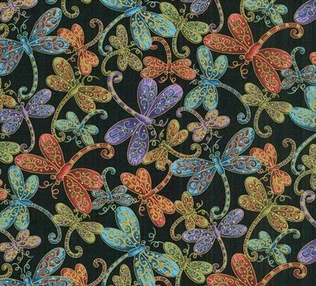 Dragonfly Cotton Fabric Ebay