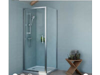 BRAND NEW IN BOX Cooke & Lewis Exuberance Square Shower Enclosure with Hinged Door (W)800mm (D)800mm
