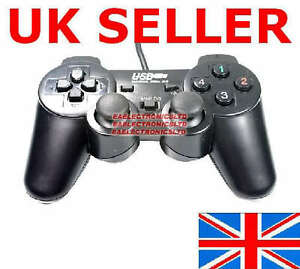 14 BUTTON DUAL SHOCK USB PC GAME CONTROLLER JOY PAD UK