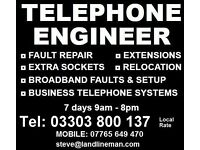 TELEPHONE ENGINEER GLOUCESTER HEREFORD MALVERN BRISTOL BATH
