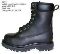 """Ladies 8"""" Safety Boots - insulated waterproof"""