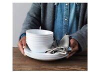 IKEA White Plates and Bowls - 10 pieces