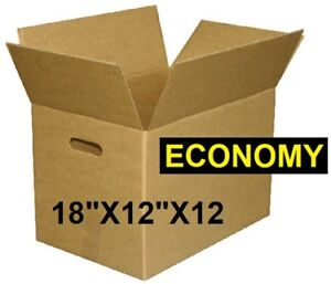 Economy Moving Boxes New with Handles and Packing Supplies