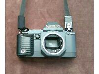 Canon T70 35 mm film camera.