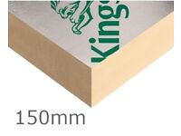 2 Full sheets of 150MM Kingspan/Celotex/Recticel PIR Insulation As new . Can deliver