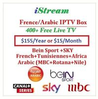 $15/Month French/ Arabic IPTV Account Included 1400+ Live TV