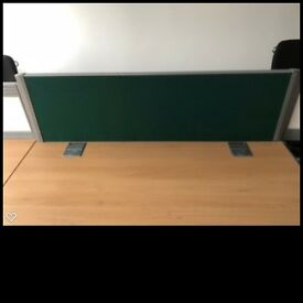 Premium Beech Desks x6 Bench Desking with cable management and desk screens. Great Condition