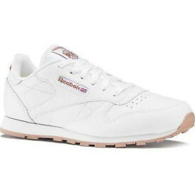 Brand new classic ladies leather Reebok trainers UK size 5. Collection from Langley Moor.