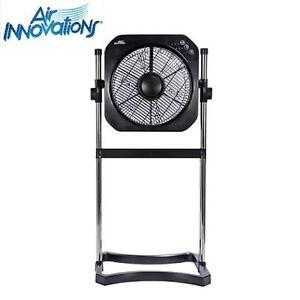 "NEW AI 2-IN-1 FAN 12"" W/ TIMER BLACK - SWIRL COOL - AIR INNOVATIONS 104585962"