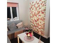 Interior decor flower wall & backdrops