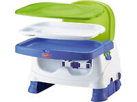 Fisher Price Healthy Care Baby Booster seat, brilliant reviews + free tommee tippee feeding bib