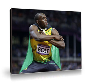 Usain Bolt. Canvas Print Poster. Stretched & Ready to Hang.