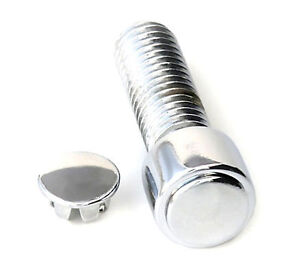 10 CHROME ALLEN HEAD BOLT PLUGS CAPS INSERTS 1/4