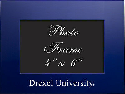 Drexel University   4X6 Brushed Metal Picture Frame   Blue
