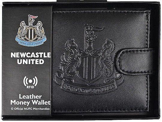 Newcastle United FC Rfid Echtleder Fußball Sport Geldbeutel Geldbörse Nufc