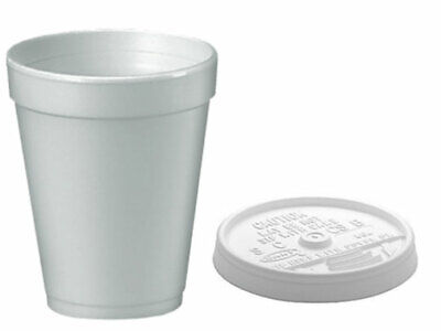 12 Oz White Foam Cups (Dart 7oz, 10oz, 12oz White Polystyrene Insulated Foam Poly Cups & lids)