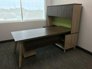 Executive L Shaped Desk With Hutch ($1,025) - Item #7704
