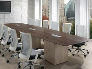 Boat Shaped Boardroom Table ($1670 - $4245) - Item #3047