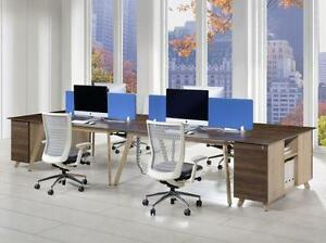 Modern Shared Workstation For 2 - BRAND NEW - Item #3037