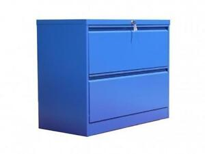 Professional Matt Blue 2 Drawer Lateral File Cabinet ($387) - Item #7145