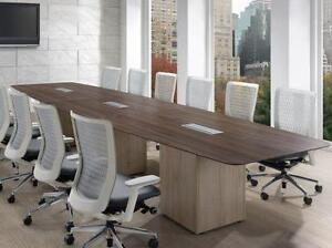 Boat Shaped Boardroom Table - BRAND NEW - Item #3047