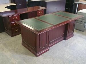 Mahogany Executive Desk Set ($395) - Item #6631