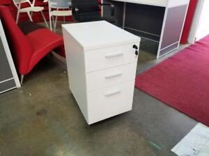 White Mobile Bbf Pedestal File Cabinet ($290) - Item #7037