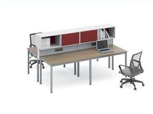 Modern Workstation For 4 - BRAND NEW - Item #4801