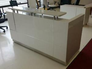 Ultra Hg   High Gloss Reception Desk With Marble Counter ($853.17 - $1,595.23) - Item #7444