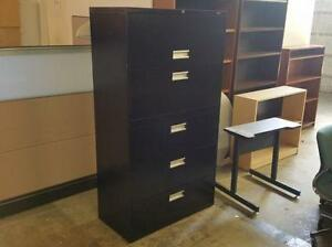 Black 5 Drawer Lateral File Cabinet ($395) - Item #6572