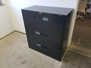 Global 3 Drawer Lateral File Cabinet ($225) - Item #7533