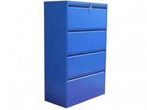 Professional Matt Blue 4 Drawer Lateral File Cabinet ($465.75 - $621) - Item #7151