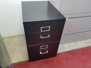 Black 2 Drawer Vertical File Cabinet ($75) - Item #7396