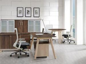 Modern L Shape Desk With Side Cabinet - BRAND NEW - Item #3851
