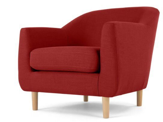 Tubby armchair postbox red, from Made