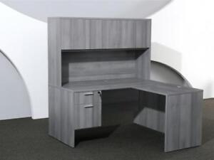 5ft X 5ft Grey L Shaped Desk ($534) - Item #7608