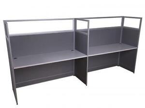Modern 5ft Straight Workstation With Glass For 2 ($983.70) - Item #6853