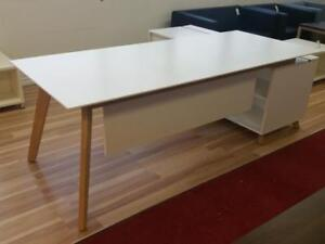 Modern Executive Desk With Side Cabinet ($750 - $815) - Item #7302