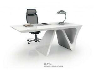 Ultra Hg   Modern High Gloss Executive Desk ($1,355.75 - $1,595) - Item #7449