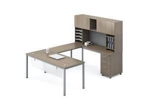 Modern U Shape Desk With Hutch - BRAND NEW - Item #4804