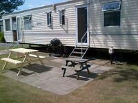 HAGGERSTON CASTLE! Reduced Lovely static caravan 6 berth 2 bedroom