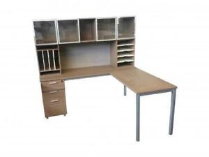 L Shaped Desk With Hutch ($490) - Item #7760