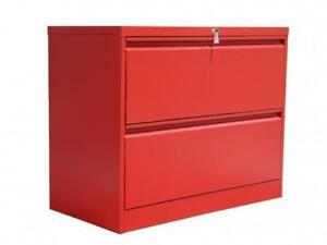 Professional Matt Red 2 Drawer Lateral File Cabinet ($387) - Item #7146